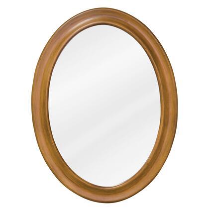 Bath Elements MIR060 Clairemont Series Oval Portrait Bathroom Mirror