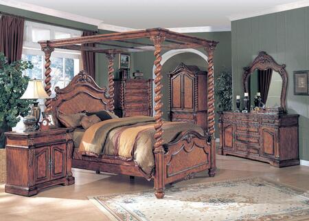 Yuan Tai AL4101KTVSET Allison Series 5 Piece Bedroom Set