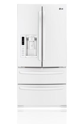LG LMX25988SW  French Door Refrigerator with 24.7 cu. ft. Total Capacity 4 Glass Shelves