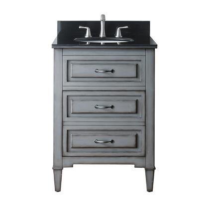 Avanity KELLY-VS Kelly Sink Vanity with Top, Sink, Nickel Finished Hardware, 2 Soft-closed Drawers, Adjustable Height Levelers, Poplar Wood and MDF in Grayish Blue Finish