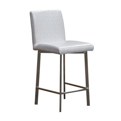 Diamond Sofa 164STWH  Leather Upholstered Bar Stool