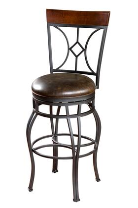 American Heritage 134901GRA Starletta Series Residential Bonded Leather Upholstered Bar Stool