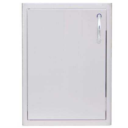 Blaze BLZ-LHDOOR Single Access Door with Left Hinge Side, Rounded Bevel Design and Rounded Handles in Stainless Steel