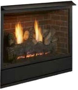 "Majestic VFF32LXV 32"" Vent Free Fireplace System Millivolt Control Up to 37,000 BTUs - Traditional Style, CSA Design Certified"