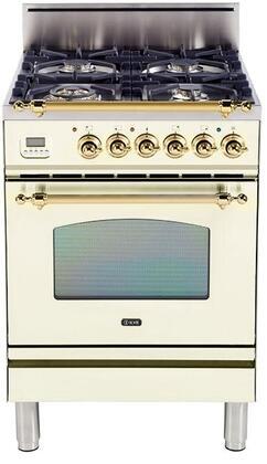 Ilve Upn60dvggi 24 Inch Nostalgie Series Gas Freestanding