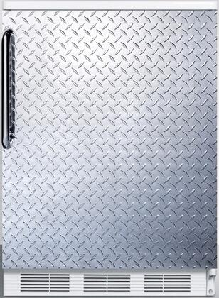 """AccuCold FF6 24"""" FF6 Series Medical Freestanding Compact Refrigerator with 5.5 cu. ft. Capacity, Interior Lighting, Door Storage and Automatic Defrost:"""