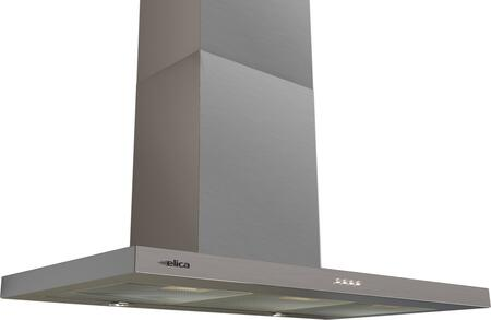 Elica ETB43XS1 Comfort Series Toblino Chimney Wall Mount Hood with 400 CFM Internal Blower, 3 Fan Speeds, Push Button Controls, Dishwasher-Safe Anodized Aluminum Mesh Grease Filters, and 2 Halogen Lights: Stainless Steel