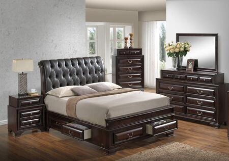 Glory Furniture LaVita 5 Piece King Size Bedroom Set