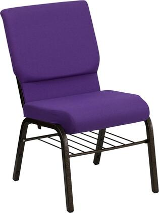 Flash Furniture XUCH60096PUBASGG Hercules Series Armless Fabric Metal Frame Accent Chair