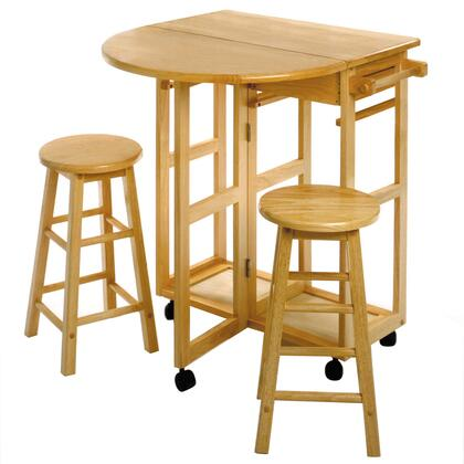 Winsome 8933X Space Saver, Drop Leaf Table with 2 Stools