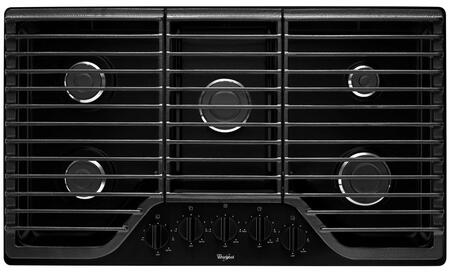 "Whirlpool WCG51US6Dx 36"" 5 Burner Gas Cooktop with Multiple SpeedHeat Burners, 5,000 BTU AccuSimmer Burner, SpillGuard, Dishwasher-Safe Knobs and Sealed Burners in"
