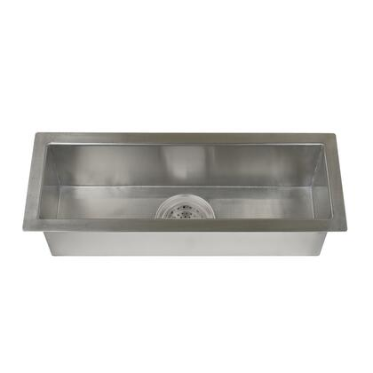 Barclay TSSSB21 Whitesboro Collection Zero Radius Stainless Steel Trough Sink with Zero Radius Corners and Insulation for Sound Reduction