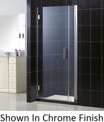DreamLine SHDR-20367210 Unidoor Frameless Hinged Shower Door With Self-Closing Solid Brass Wall Mounted Hinges, Reversible For Right or Left Door Opening & In