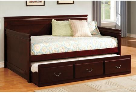 "Furniture of America Sahara CM1637XX-BED 81"" Daybed with English Style, Platform Bed, Twin Trundle Included, Slat Kit Included in"