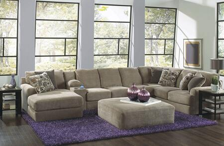 "Jackson Furniture Malibu Collection 3239-75-88-30-72- 172"" 4-Piece Sectional with Left Arm Facing Chaise, Armless Sofa, Console with Entertainment and Right Arm Facing Section with Corner in"