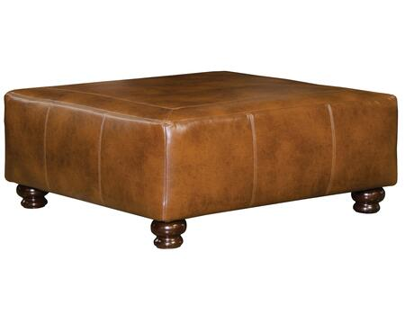 "Jackson Furniture Southport Collection 4467-12- 40"" Cocktail Ottoman with Faux Leather Upholstery, Turned Legs and Tranpunto Stitching in"