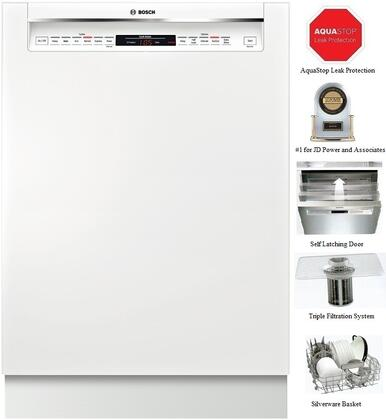 "Bosch SHE68T52UC 24"" 800 Series Built In Full Console Dishwasher"