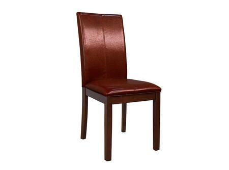 AAmerica PRSES222K Parson Series Contemporary Leather Solid Hardwood Frame Dining Room Chair