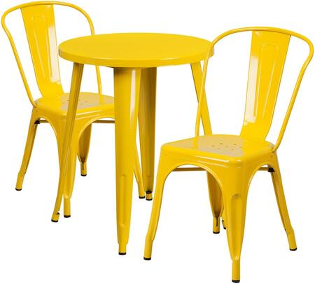 Flash Furniture CH51080TH218CAFEYLGG Round Shape Patio Sets