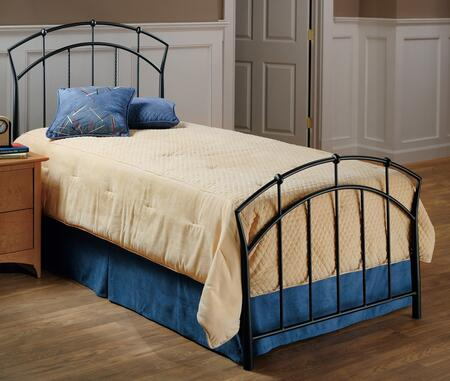 Hillsdale Furniture 1024B Vancouver Panel Bed Set with Rails Not Included, Tapered Sides, Twisted Spindles and Metal Construction in Brown Powder Coat Finish