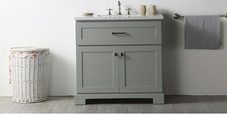 """Legion Furniture WH7636 36"""" Sink Vanity with 2 Doors, Ceramic Sink and 3 Pre-Drilled Faucet Hole in"""