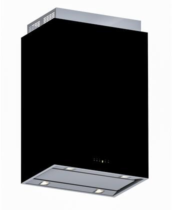 """Futuro Futuro IS36LOMBARDY 36"""" Lombardy Island Mount Chimney Style Range Hood with 940 CFM Internal Blower, Dishwasher-safe Mesh Filter, and LED Lighting, in"""