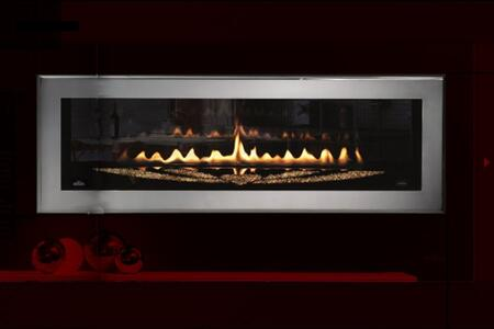 """Napoleon LHD50SS Swarovski Special Edition Linear Front View Fireplace With 1000 """"CRYSTALLIZED - Swarovski Elements"""" In The Two Sided Unit & Polished Chrome Beveled Door Frame"""