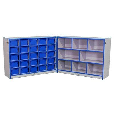 Mahar M70955 25 Cubbie Hinged Storage Units with Hasp, Contains 2 Units Without Trays in Maple Finish with Edge Color (Youth)