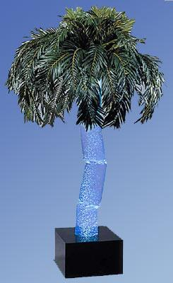 "Midwest Tropical AP-5X X"" High Aqua Palm Indoor Bubbling Palm Tree Floor Lamp"