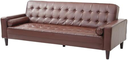 "Glory Furniture G800 Collection 85"" Sofa Bed with Button Tufted Cushions, Track Arms, Removable Back and Arms, Center Support Leg, Tapered Legs and Upholstered in"