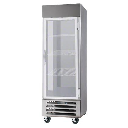 "Beverage-Air HBR27-1 30"" Horizon Series One Section [Solid Door] Reach-In Refrigerator, 27 cu.ft. Capacity, Stainless Steel Exterior and Interior, with Bottom Mounted Compressor"