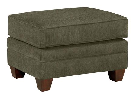 "Broyhill Greenwich 3676-5/8612 27"" Wide Ottoman with Ultralux Cushion, Welting Details and Tapered Feet in"