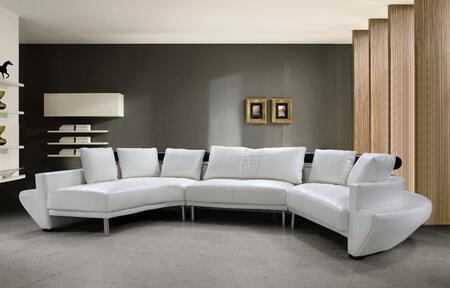 VIG Furniture VG2T0510WHL  Sofa and Chaise Leather Match Sofa