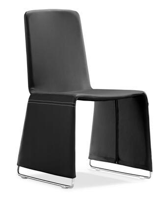 Zuo 102110 Nova Series Modern Leatherette Chromed steel Frame Dining Room Chair