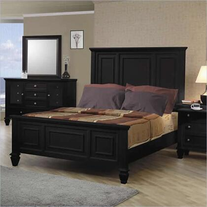 Coaster 201321 Sandy Beach Classic Panel Bed in Black Finish,