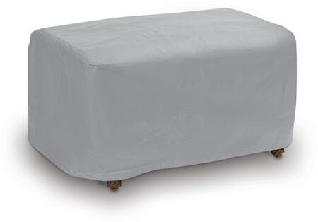 "PCI by Adco 26"" Small Ottoman Outdoor Cover with UV Treated, Secured with Velcro Ties, Water Resistant and Heavy Duty Vinyl Fabric in"