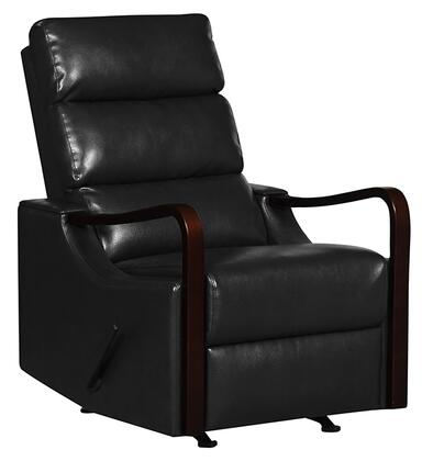 Rissanti 21310BLACK Contemporary Leather N/A Frame  Recliners