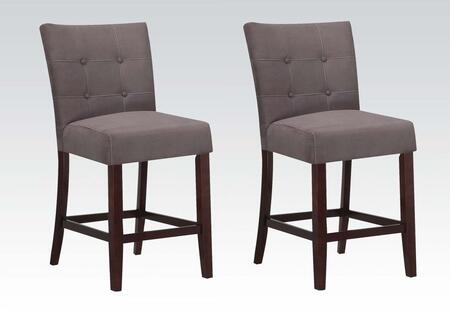 Acme Furniture 16831 Baldwin Series Contemporary Microfiber Wood Frame Dining Room Chair