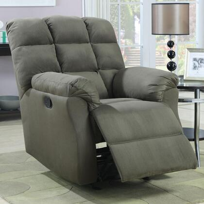 Coaster 601018 Recliners Series Casual Microfiber Wood Frame Rocking Recliners