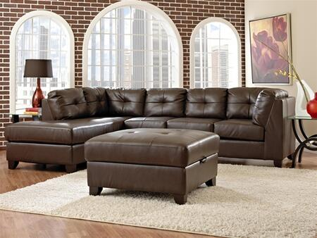 Klaussner VERVESEC Verve Series Stationary Bonded Leather Sofa