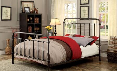 Furniture of America CM7701GMEK Iria Series  Eastern King Size Bed