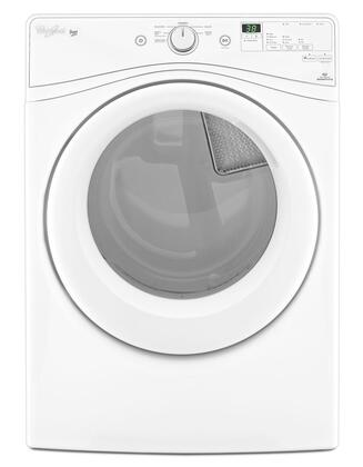 Whirlpool WXD72HEDW 7.4 cu. ft. Duet High Efficiency Front Load Dryer with Advanced Moisture Sensing System, EcoBoost Option, Wrinkle Shield Plus Option, Quick Dry Cycle, in White