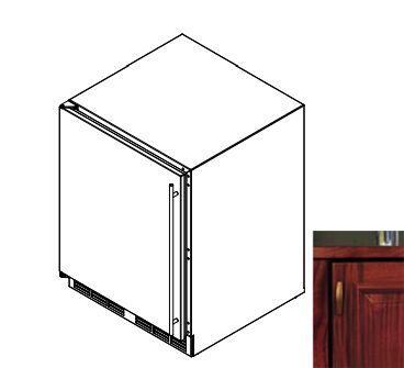 Perlick HA24FB2L  Counter Depth Freezer with 4.8 cu. ft. Capacity