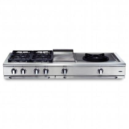 "Capital GRT606QGL 60"" PRECISION Series Liquid Propane Sealed Burner Style Cooktop, in Matte Porcelain"