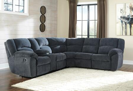 Signature Design by Ashley Timpson 6190x-05-49 2-Piece Sectional Sofa with Left Arm Facing Double Reclining Loveseat with Console and Right Arm Facing Reclining Loveseat in