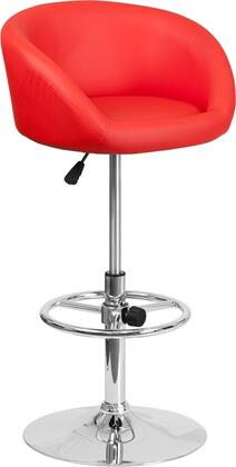 Flash Furniture CHTC31066LREDGG Residential Vinyl Upholstered Bar Stool