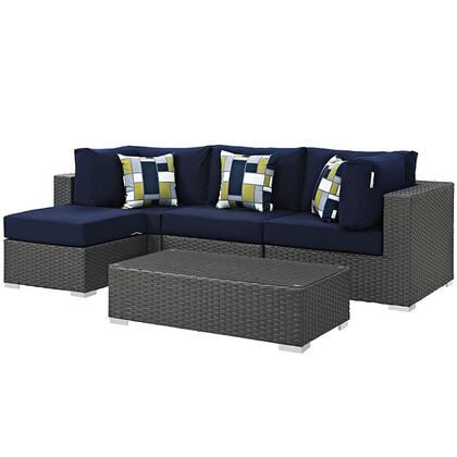 Modway EEI2385CHCNAVSET Rectangular Shape Patio Sets