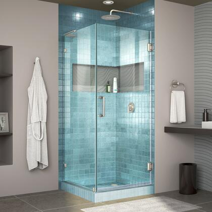 DreamLine Unidoor Lux Shower Enclosure RS30 30D 30RP 04 Blue Tile