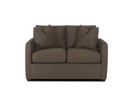 Klaussner JACOBSLS Jacobs Series Microfiber Stationary with Wood Frame Loveseat