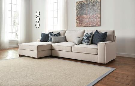 Milo Italia Elianna Collection MI-3669TMP 2-Piece Sectional Sofa with X Arm Facing Sofa and X Arm Facing Corner Chaise in Stone Color
